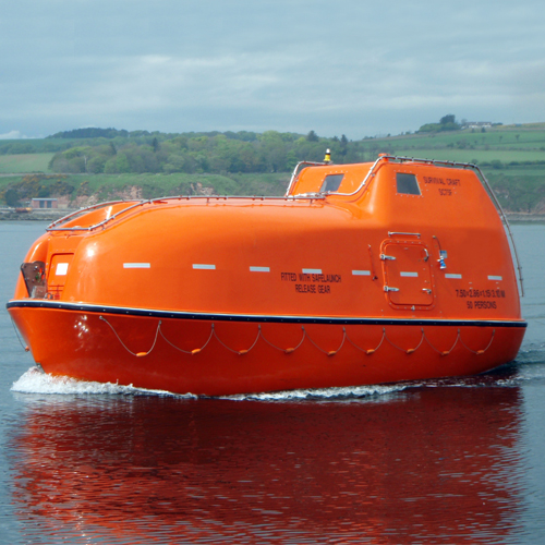 Twin Fall Davit Launched Lifeboat