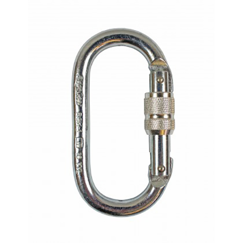 17mm Screwgate Steel Karabiner